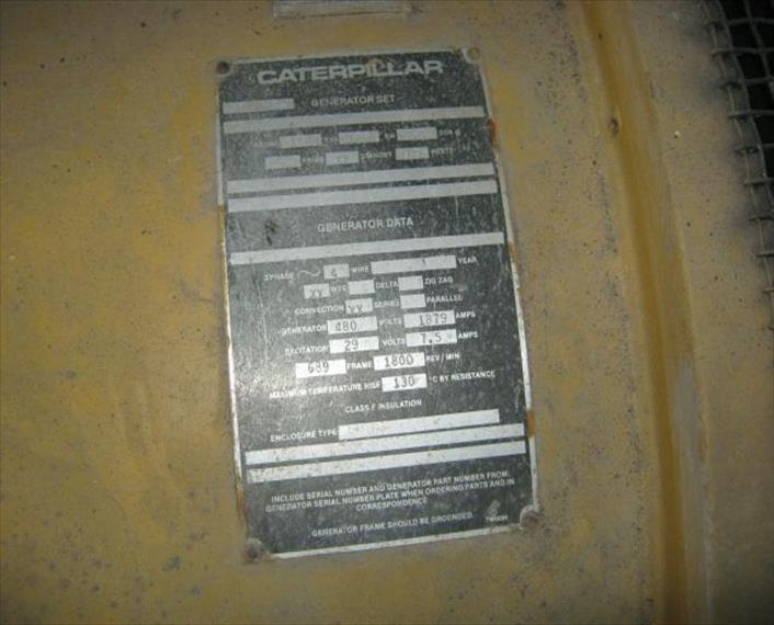 1984 Caterpillar 3508 Generator Set